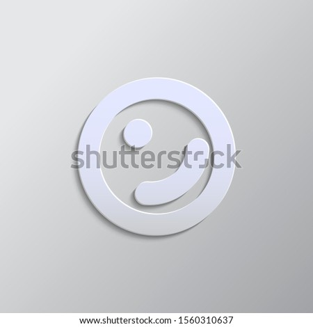 cell, biology, icon paper style. Grey color vector background
