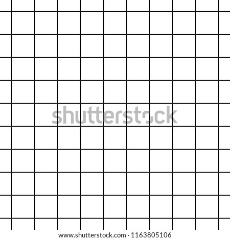 Cell Grid Striped Geometric Seamless Pattern - Vector Illustration - Isolated On White Background