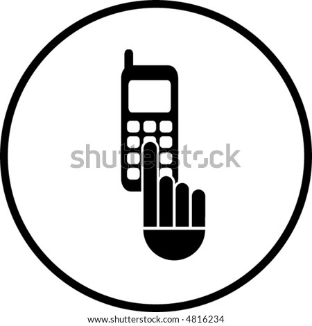 Dialing Cell Phone. cell phone dialing symbol