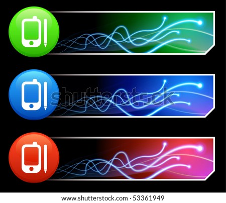 cell phone icon. stock vector : Cell Phone Icon