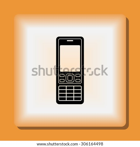 cell phone sign icon  vector