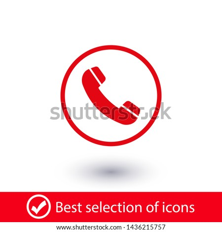 Cell phone vector icon. Telephone call icon. Ringing phone icon. Modern icon cell phone. Cell phone icons for web design