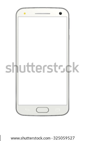 Cell phone with white screen.