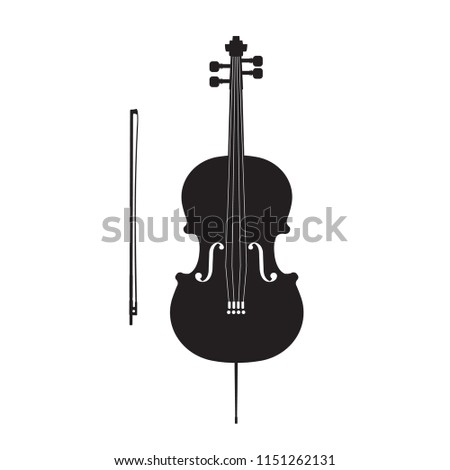 Cello vector illustration isolated on white background #1151262131