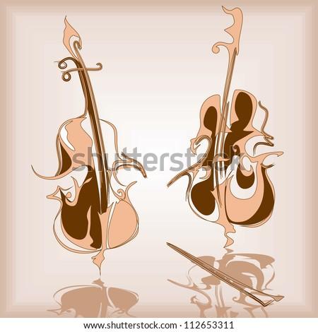 cello, violin