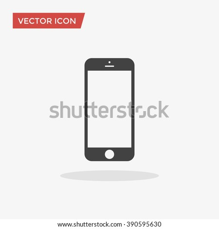 cellphone icon in trendy flat...