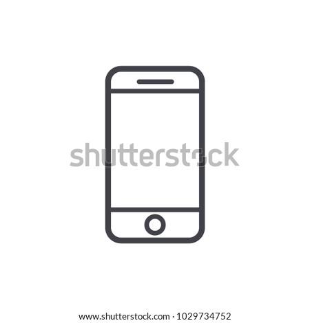 cellphone icon vector Eps10