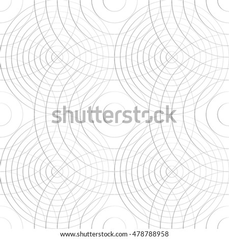 Cellular pattern with thin lines of circles. (Repeatable subtle texture)