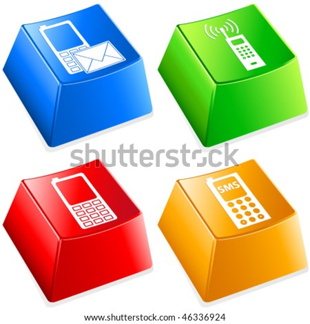 cellular phone - keyboard buttons