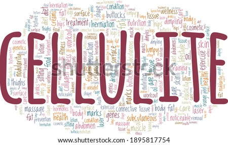 Cellulite vector illustration word cloud isolated on a white background. Сток-фото ©