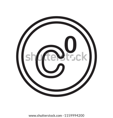 Celsius icon vector isolated on white background, Celsius transparent sign