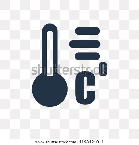 Celsius vector icon isolated on transparent background, Celsius transparency concept can be used web and mobile