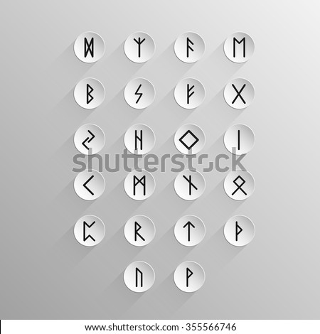 celtic alphabet icons with long