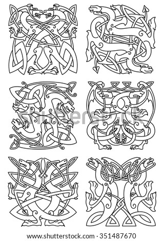 celtic animal knot ornaments of