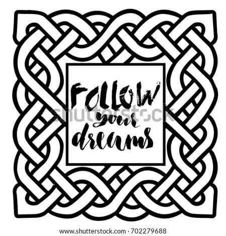 celtic black and white pattern