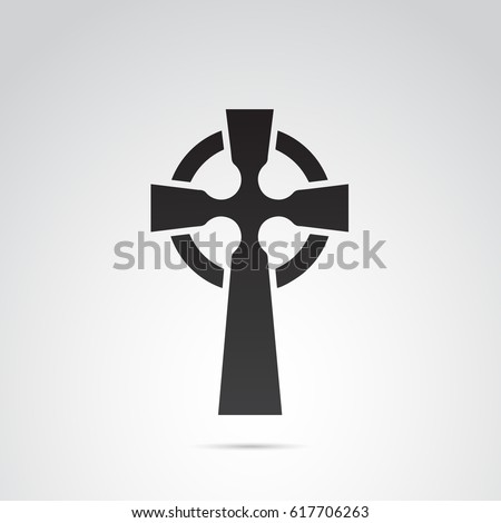 celtic cross icon isolated on