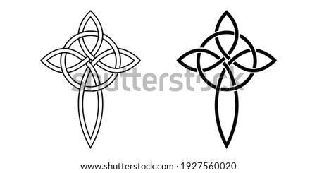 celtic cross knot and circle