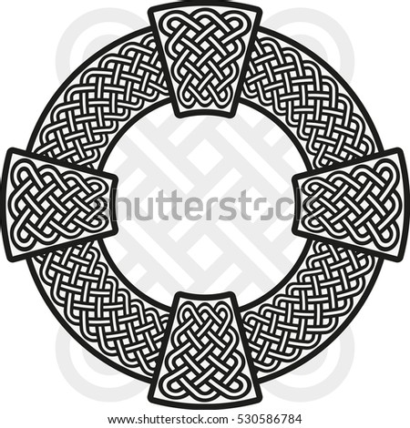 celtic cross the stylized