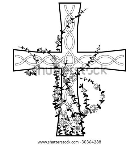 celtic crosses tattoos. stock vector : Celtic cross