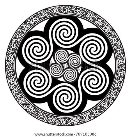 celtic design   spiral celtic