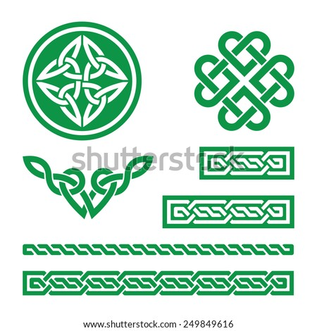 celtic green knots  braids and