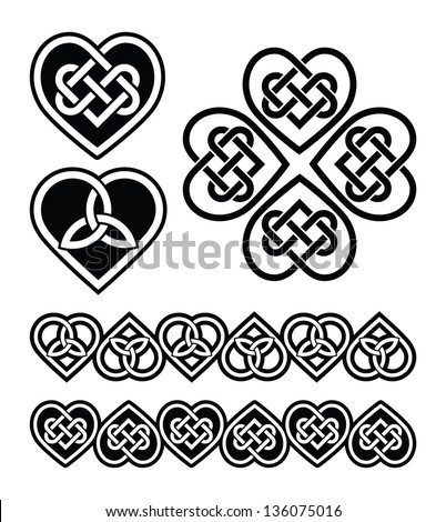 celtic heart knot   vector
