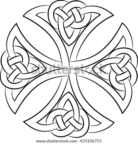 celtic knot cross  isolated on