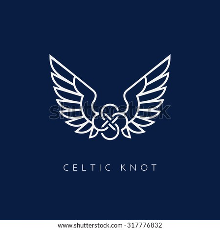 celtic knot with wing template