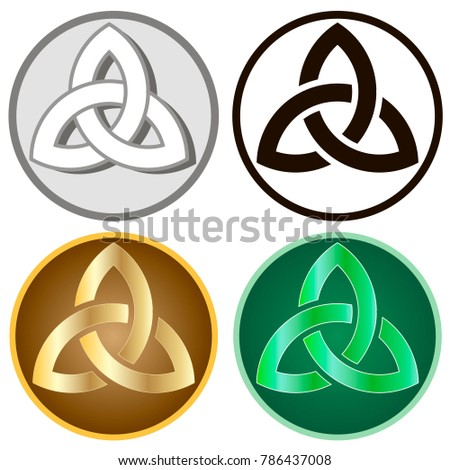 Celtic knots, set of icons. Isolated elements of traditional celtic style ornament. Vector illustration