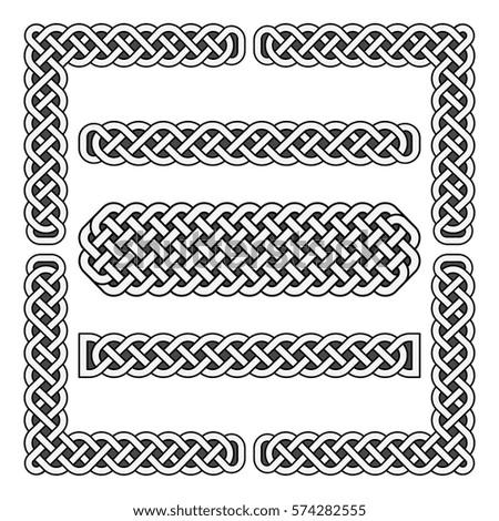 celtic knots vector medieval