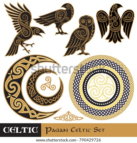 celtic magic set celtic horned