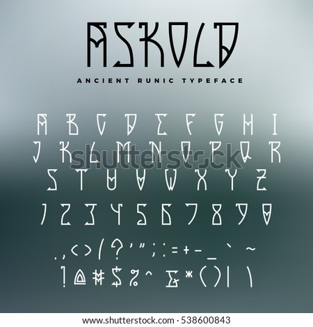 celtic or runic typeface with