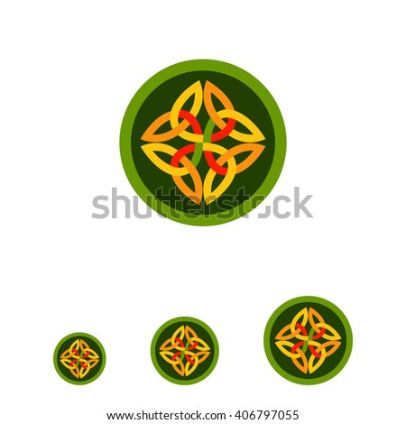 celtic ornament in green circle
