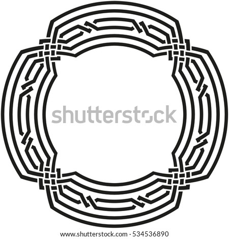 celtic pattern element of