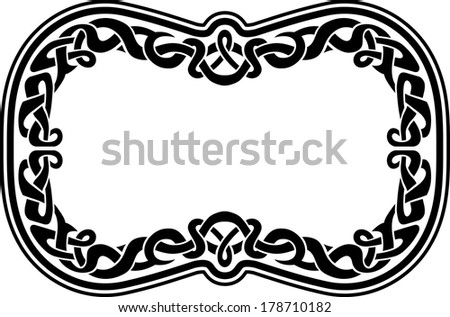 celtic pattern frame  intricate