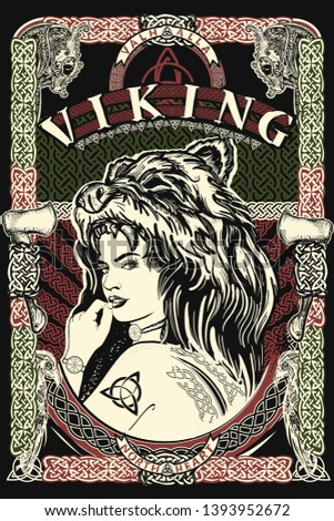 celtic print viking slogan