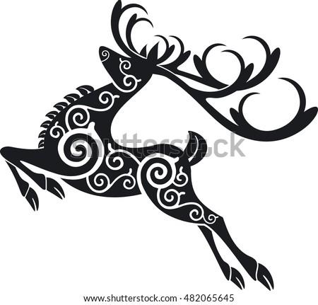 celtic red deer stag