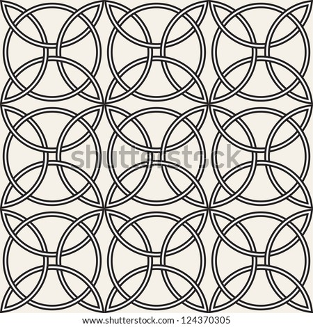 Celtic seamless pattern. Abstract vintage geometric wallpaper. Vector illustration