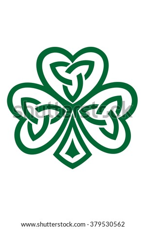 Celtic Shamrock symbol vector illustration isolated on white.