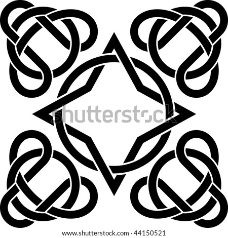 stock vector celtic tattoo template