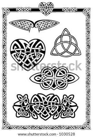 Celtic Vector Art Collection - stock vector
