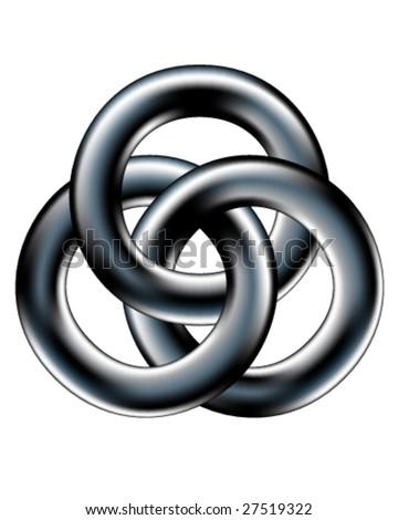 Celtic wedding band or corporate unity symbol