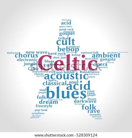 celtic word cloud  five