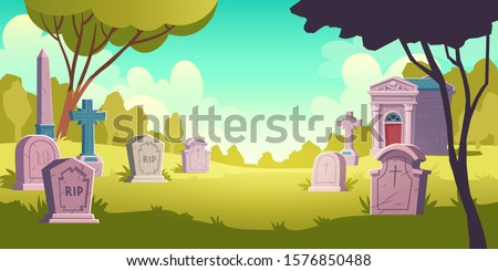 cemetery day landscape