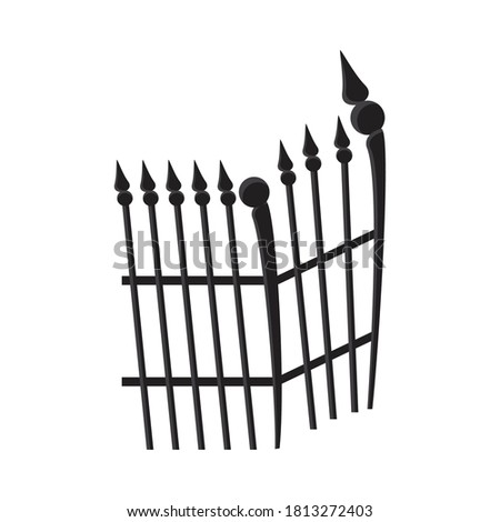 cemetery gate metal isolated
