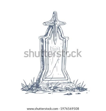 cemetery gravestone with stone
