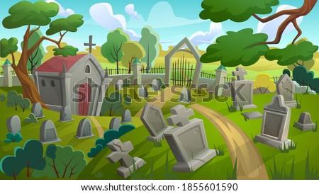 cemetery graveyard landscape
