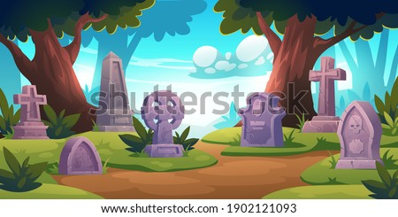 cemetery  graveyard with