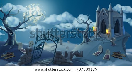 cemetery  halloween background