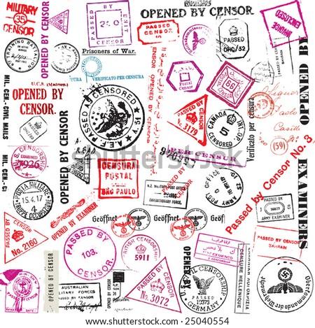 censorship stamps